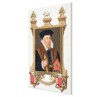 Portrait of Sir Nicholas Bacon (1509-79) from 'Mem Gallery Wrapped Canvas