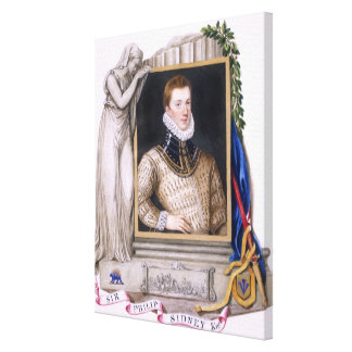 Portrait of Sir Philip Sidney (1554-86) from 'Memo Gallery Wrapped Canvas