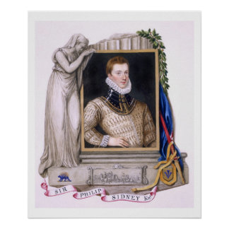 Portrait of Sir Philip Sidney (1554-86) from 'Memo Poster
