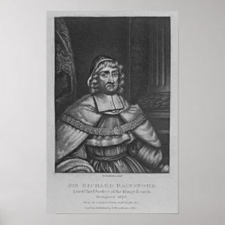 Portrait of Sir Richard Rainsford Print