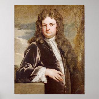Portrait of Sir Richard Steele 1711 Print