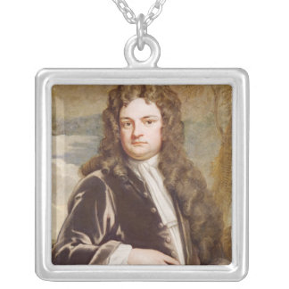 Portrait of Sir Richard Steele  1711 Silver Plated Necklace