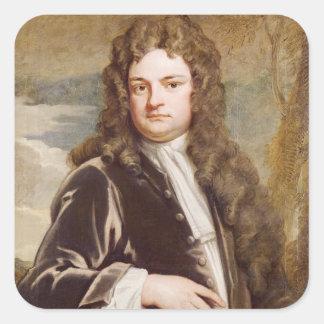 Portrait of Sir Richard Steele  1711 Square Sticker