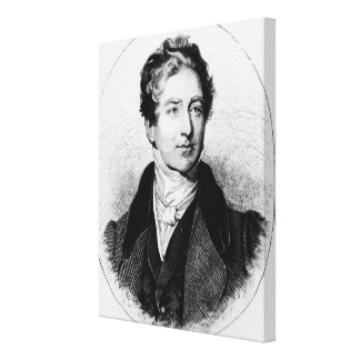 Portrait of Sir Robert Peel Canvas Print