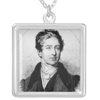 Portrait of Sir Robert Peel Square Pendant Necklace