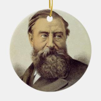 Portrait of Sir Samuel Baker (1821-93) (colour lit Ceramic Ornament