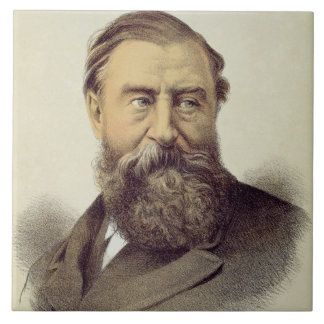 Portrait of Sir Samuel Baker (1821-93) (colour lit Tile