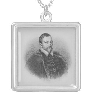 Portrait of Sir Thomas Bodley Square Pendant Necklace