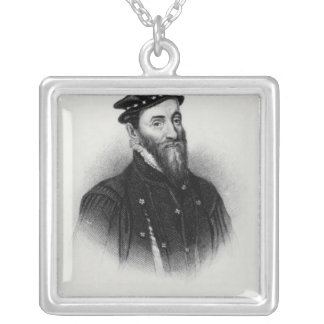 Portrait of Sir Thomas Gresham Silver Plated Necklace