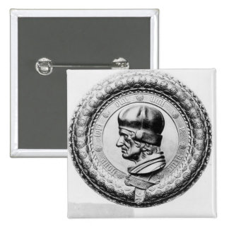 Portrait of Sir Thomas Lovell 2 Inch Square Button