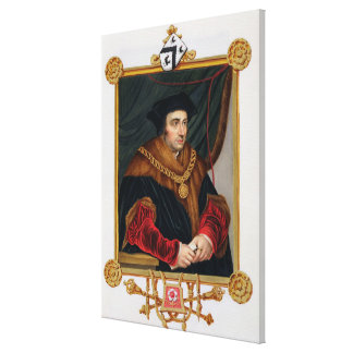 Portrait of Sir Thomas More (1478-1535) from 'Memo Stretched Canvas Print