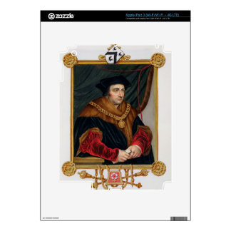 Portrait of Sir Thomas More (1478-1535) from 'Memo iPad 3 Skins