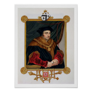Portrait of Sir Thomas More (1478-1535) from 'Memo Poster