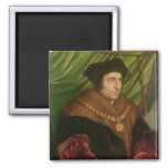 Portrait of Sir Thomas More 2 Inch Square Magnet