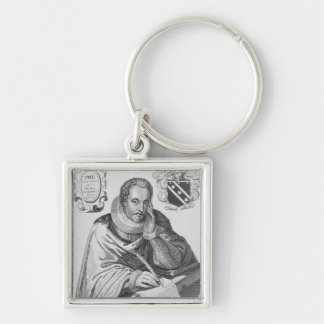 Portrait of Sir Thomas Overbury Silver-Colored Square Keychain