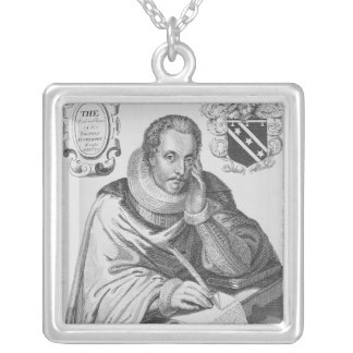 Portrait of Sir Thomas Overbury Silver Plated Necklace