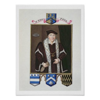 Portrait of Sir Thomas Pope (c.1507-99) from 'Memo Poster