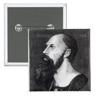 Portrait of Sir Thomas Wyatt 2 Inch Square Button