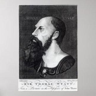 Portrait of Sir Thomas Wyatt Poster