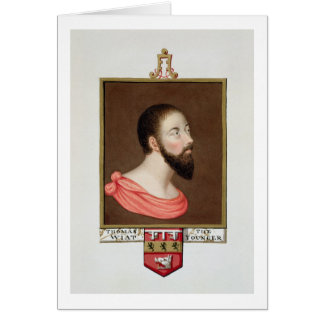 Portrait of Sir Thomas Wyatt the Younger (c.1521-5 Card