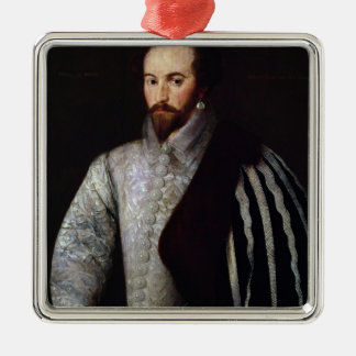 Portrait of Sir Walter Raleigh 1588 Christmas Tree Ornaments