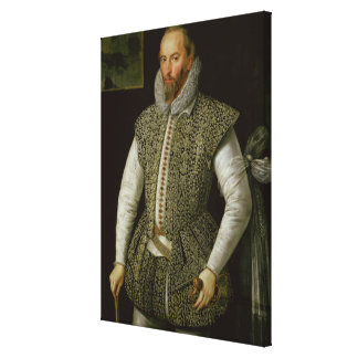 Portrait of Sir Walter Raleigh, 1598 Gallery Wrapped Canvas