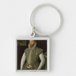 Portrait of Sir Walter Raleigh, 1598 Keychains