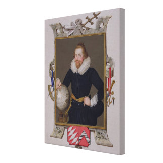 Portrait of Sir Walter Raleigh (c.1552-1618) from Canvas Print