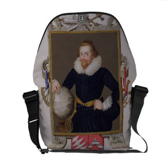 Portrait of Sir Walter Raleigh c 1552-1618 from Messenger Bag