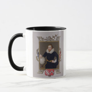 Portrait of Sir Walter Raleigh (c.1552-1618) from Mug