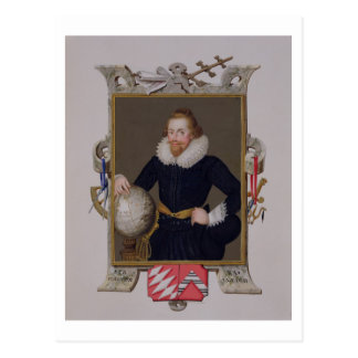Portrait of Sir Walter Raleigh (c.1552-1618) from Postcard