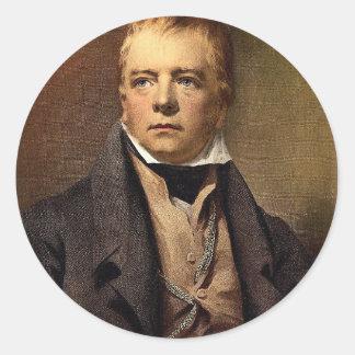 Portrait of Sir Walter Scott classic Photochrom Classic Round Sticker