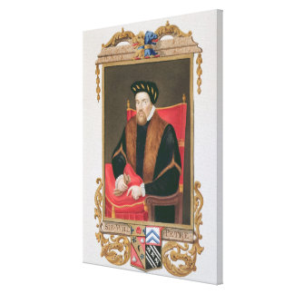 Portrait of Sir William Petre (c.1505-72) from 'Me Canvas Print