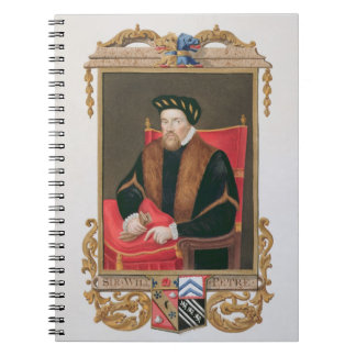 Portrait of Sir William Petre (c.1505-72) from 'Me Note Books
