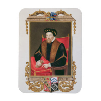 Portrait of Sir William Petre (c.1505-72) from 'Me Rectangular Photo Magnet