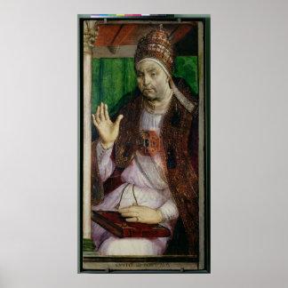 Portrait of Sixtus IV  c.1475 Poster