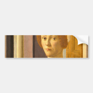 Portrait of Smeralda Bandinelli by Botticelli Bumper Sticker