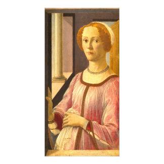Portrait of Smeralda Bandinelli by Botticelli Card