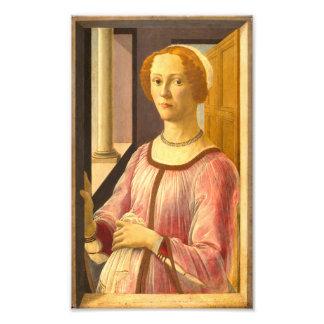 Portrait of Smeralda Bandinelli by Botticelli Photograph