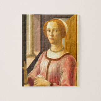 Portrait of Smeralda Bandinelli by Botticelli Jigsaw Puzzle