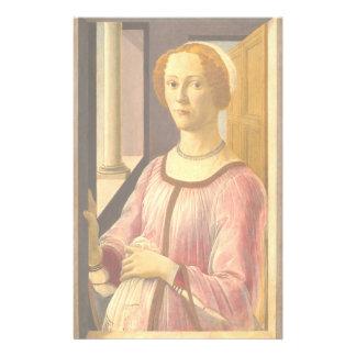 Portrait of Smeralda Bandinelli by Botticelli Stationery
