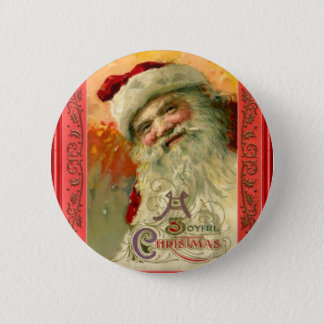 Portrait of smiling Santa Button
