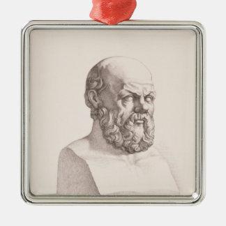 Portrait of Socrates Metal Ornament