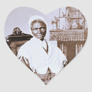 Portrait of Sojourner Truth circa 1870 Heart Sticker