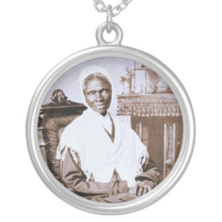 Portrait of Sojourner Truth circa 1870 Silver Plated Necklace