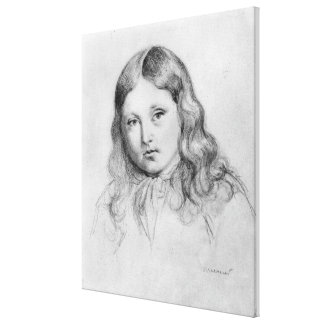 Portrait of Solange Sand Canvas Print