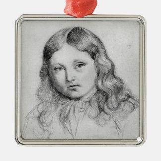 Portrait of Solange Sand Christmas Ornaments
