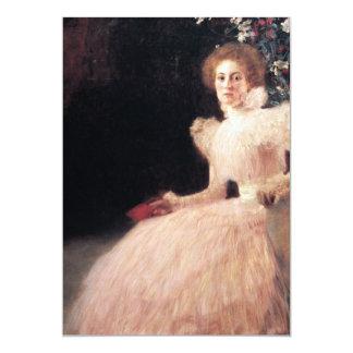 Portrait of Sonja Knips ; Gustav Klimt Painting 5x7 Paper Invitation Card