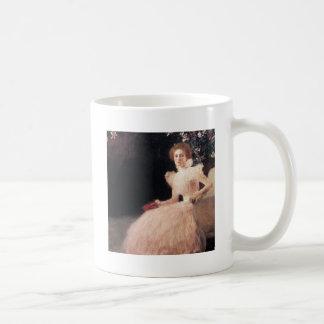 Portrait of Sonja Knips ; Gustav Klimt Painting Coffee Mug