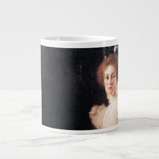 Portrait of Sonja Knips ; Gustav Klimt Painting Large Coffee Mug